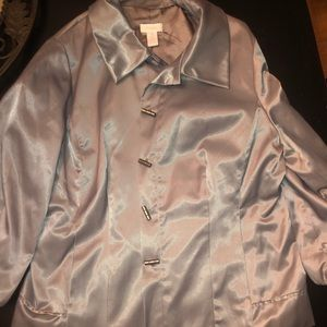 Silver metallic blazer from chicos NEVER WORN